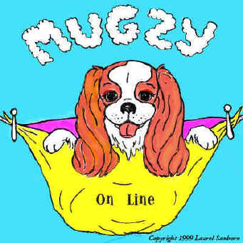 Children's & kids' dog story book: Mugzy stories. Mugzy is a King Charles Spaniel that will entertain your children online. Read with your child as Mugzy has adventures at the beach & Gramercy Park.